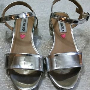 Steve Madden Girls Silver Sandals